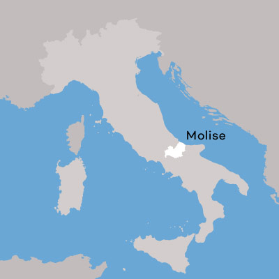 Molise wine region map by Wine Folly