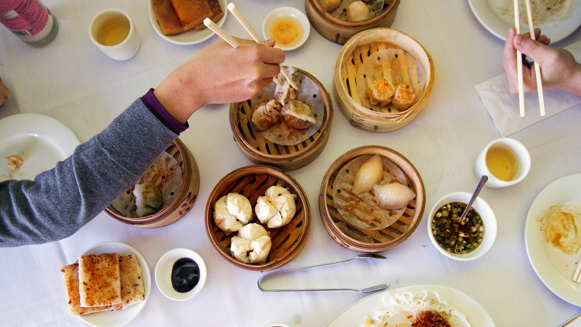 Moscato Food Pairing Advice - try Asian cuisine, dim sum image by roboppy