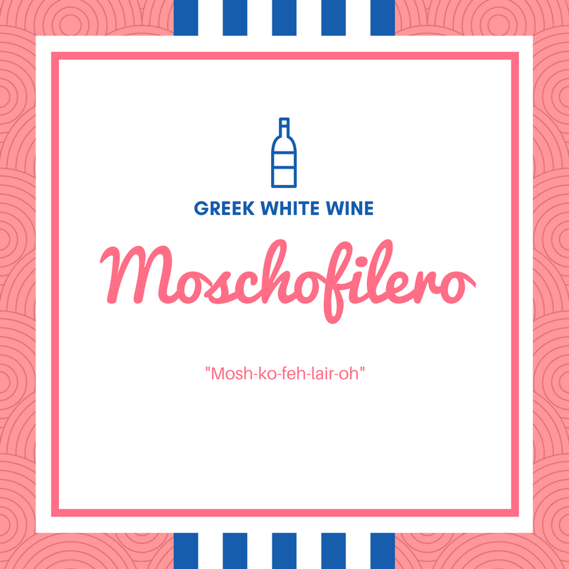 Moschofilero white wine
