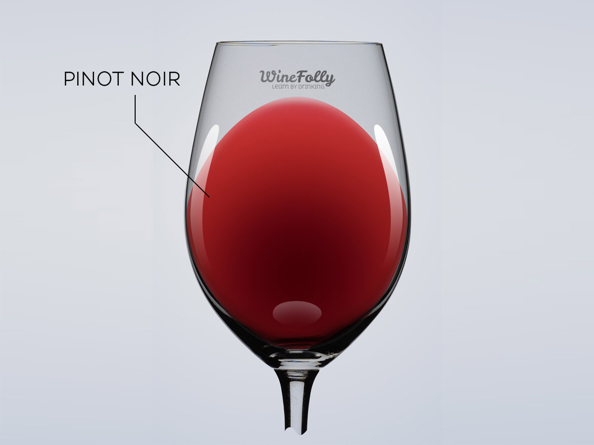 Pinot Noir light red wine illustration by Wine Folly