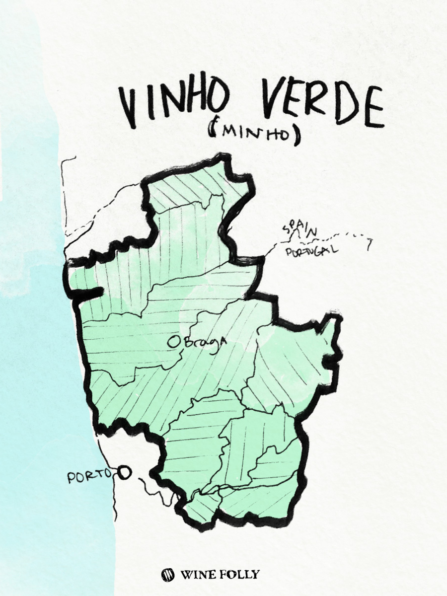 Portugal-illustrations-vinho-verde-wine-region