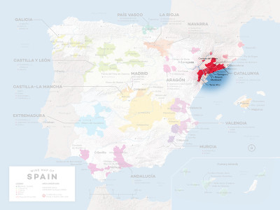 Location of Priorat in Spain.