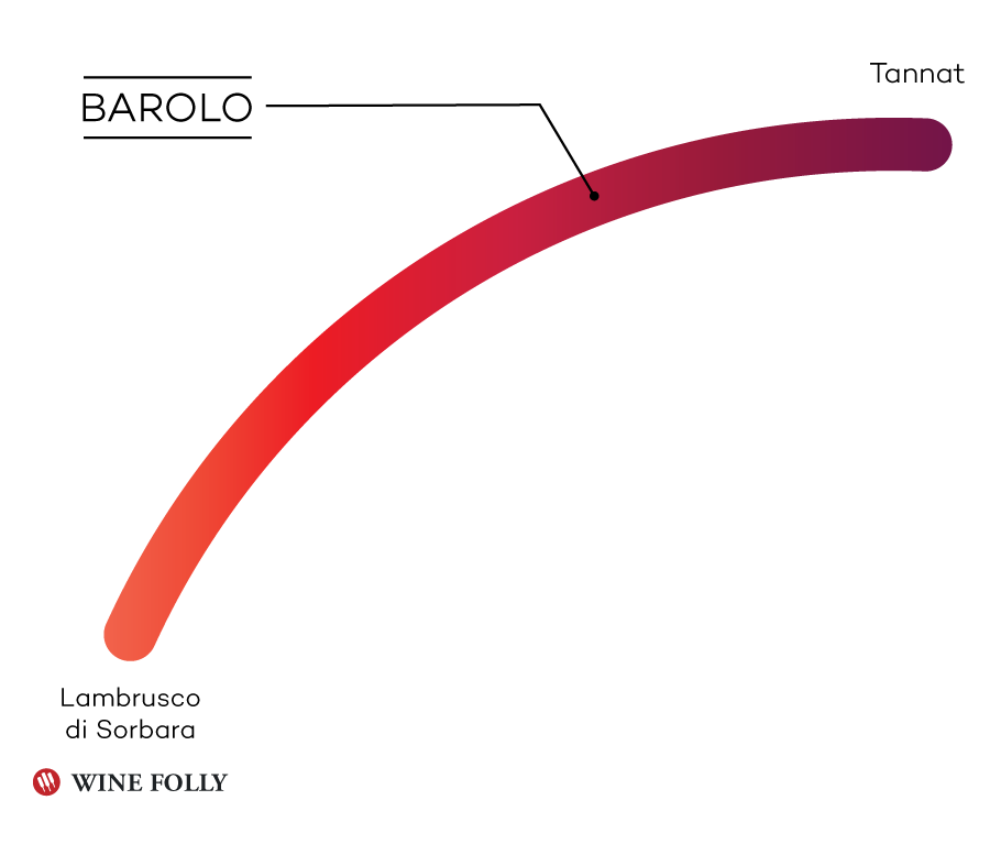 Barolo Taste Profile Infographic by Wine Folly