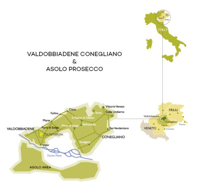 Prosecco and Valdobbiadene wine region