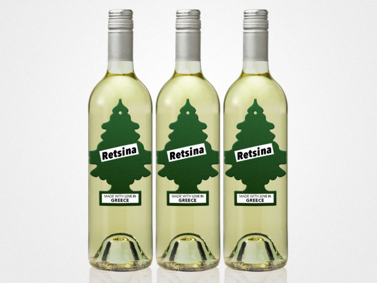 Retsina Greek White Wine made with pine resin image by Wine Folly