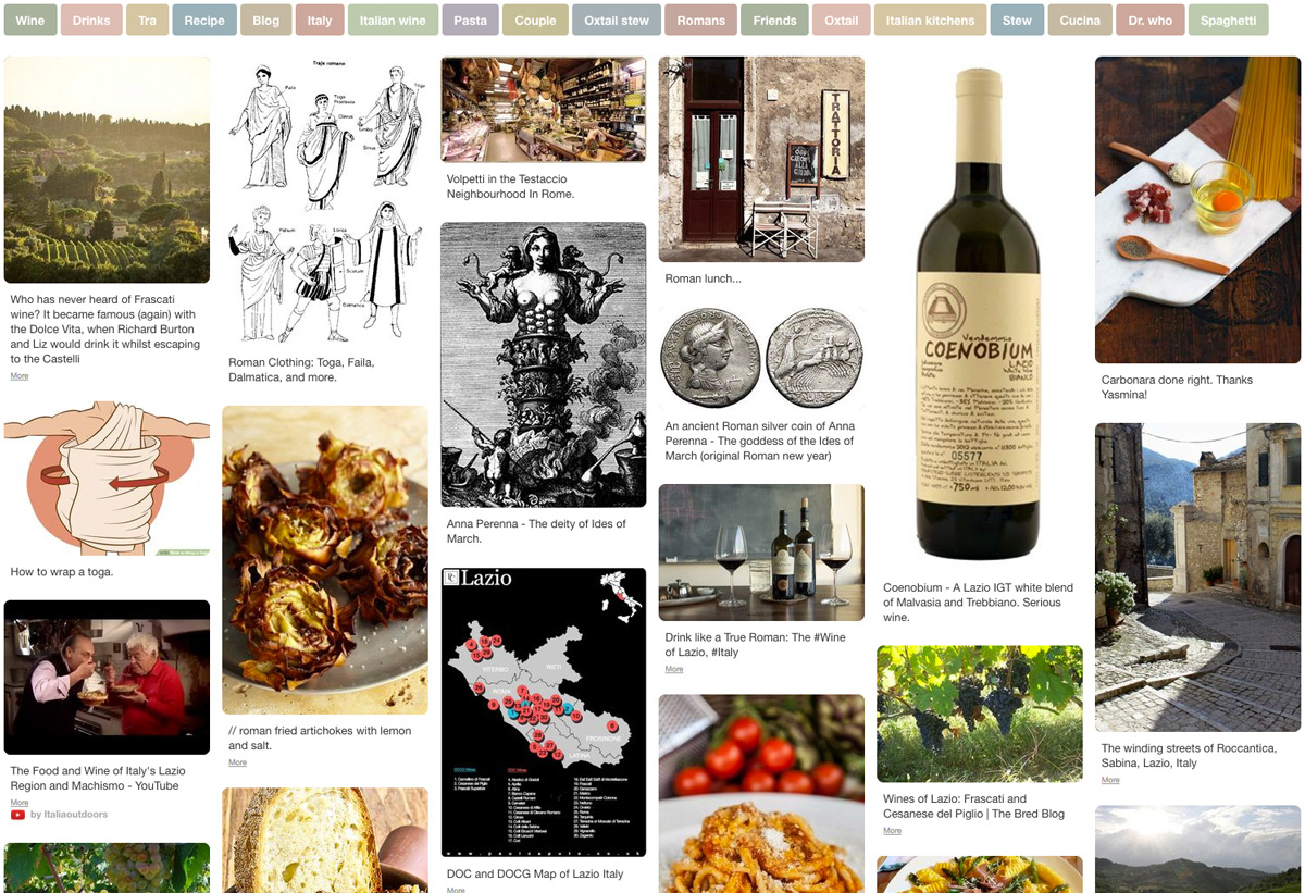 Roman Wine Pinterest Board by Wine Folly