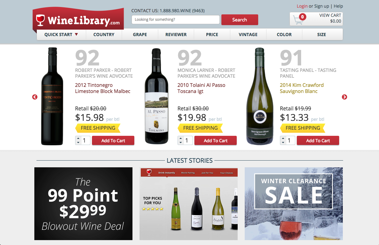 winelibrary.com wine buying site online
