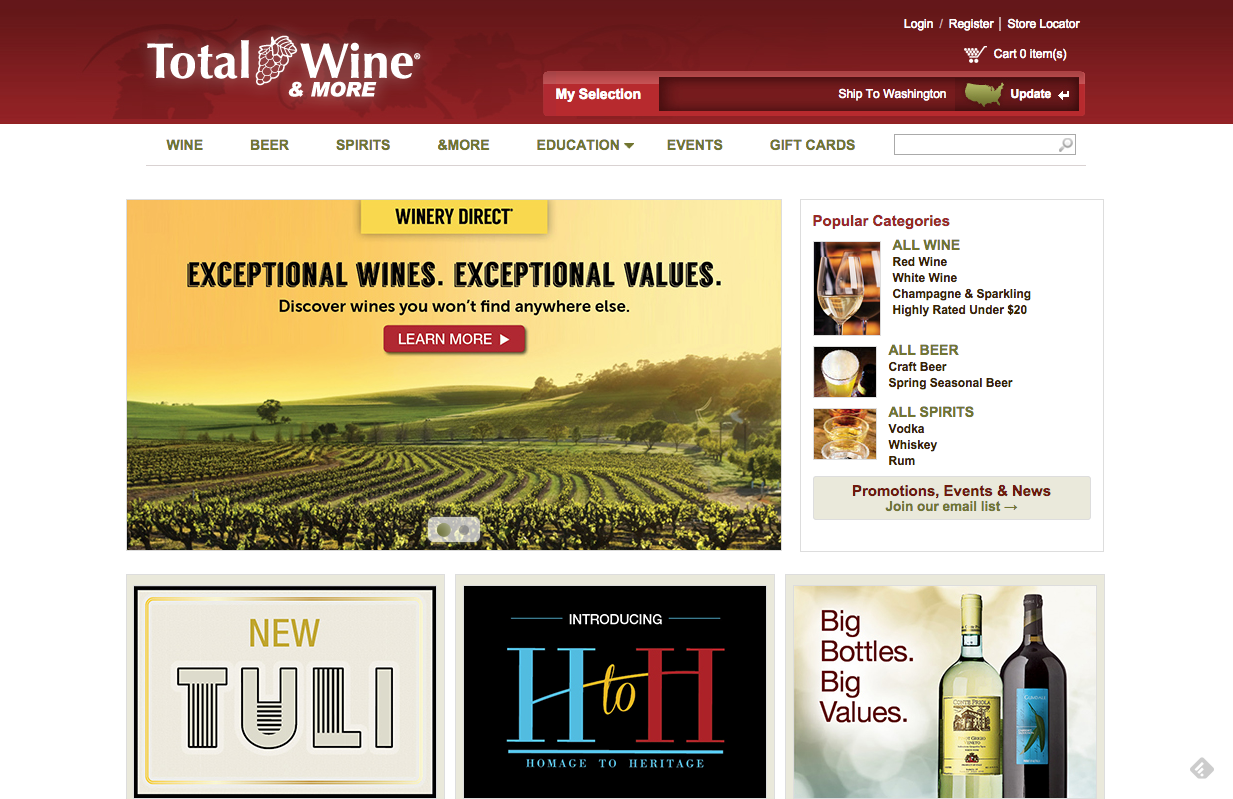 totalwine large selection of cheap wine online