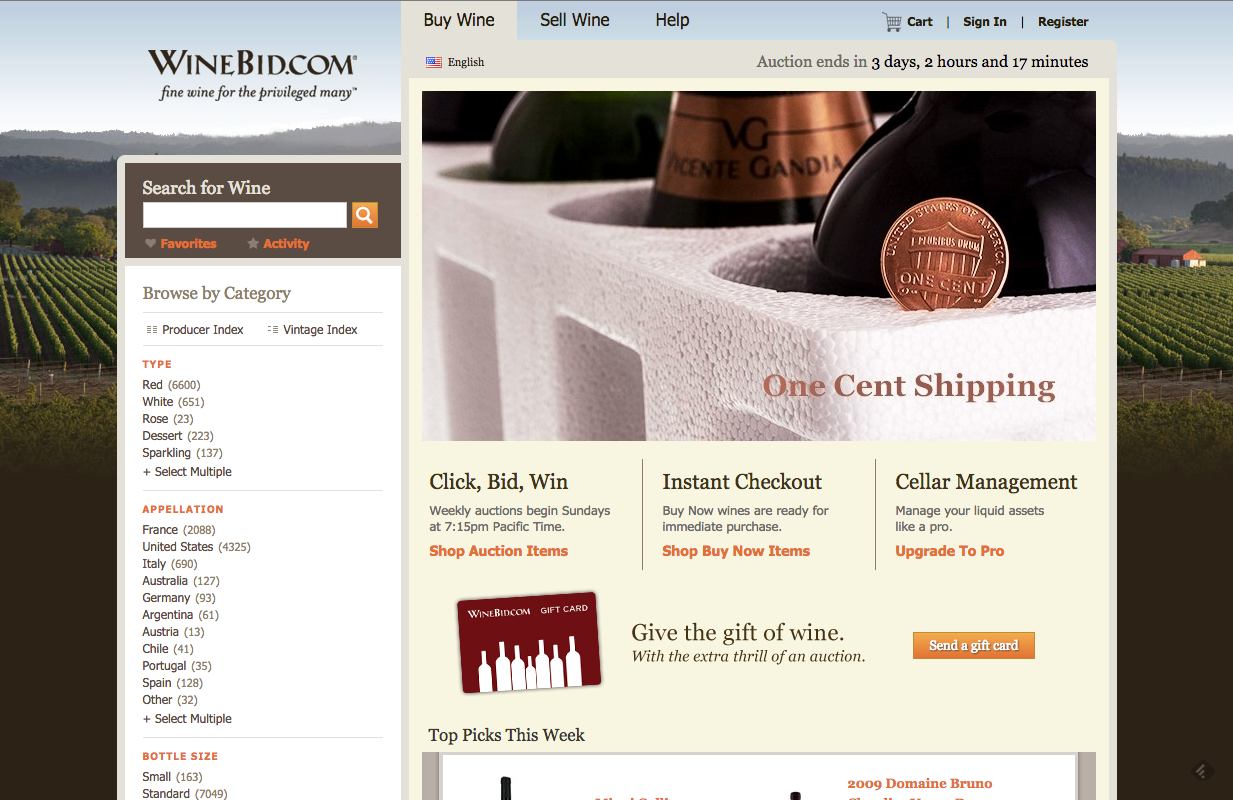 winebid ebay of online wine buying