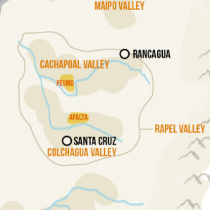 Rapel Valley Map