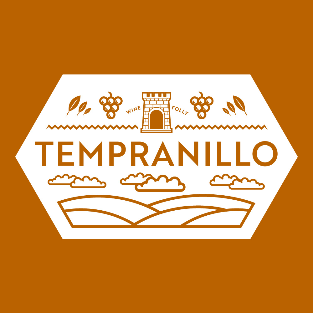 Tempranillo Wine Seal by Wine Folly