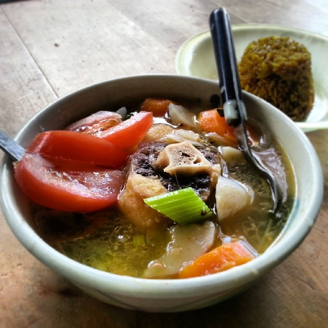 a beautiful bowl of Oxtail soup