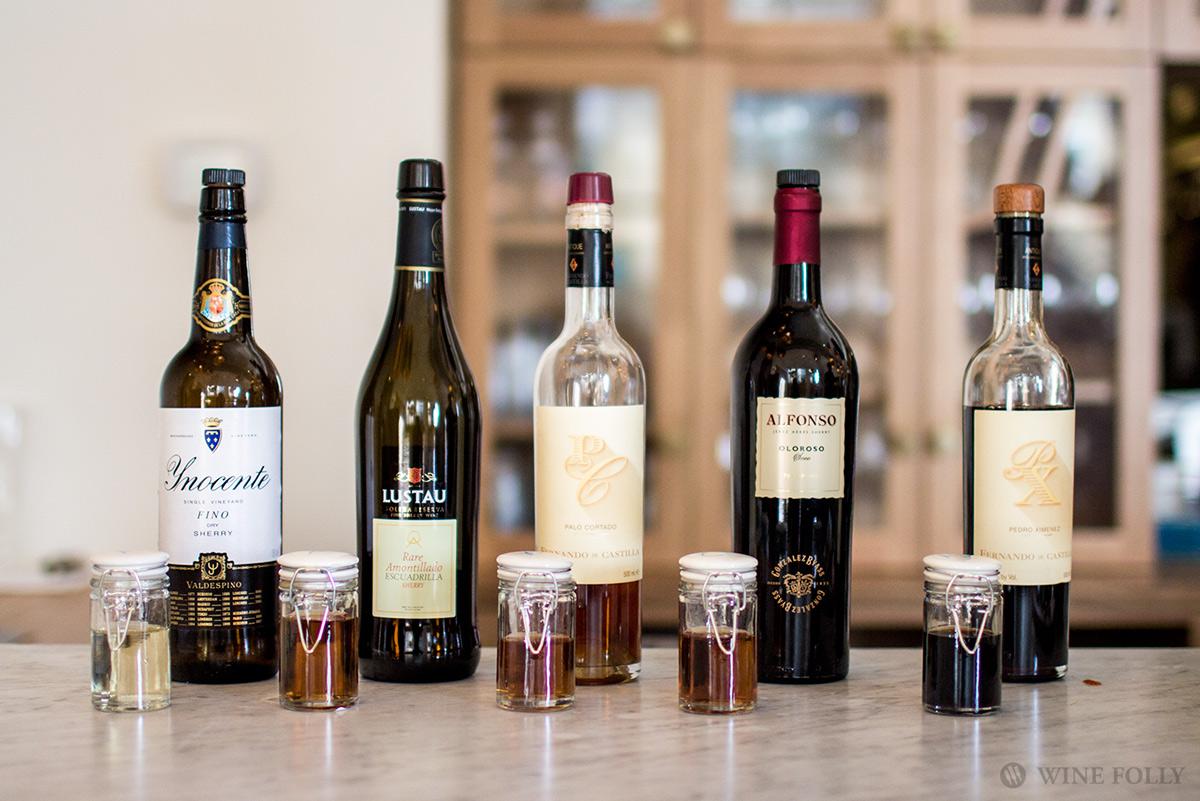 Types of Sherry Wine, photo taken at Aragona in Seattle, WA