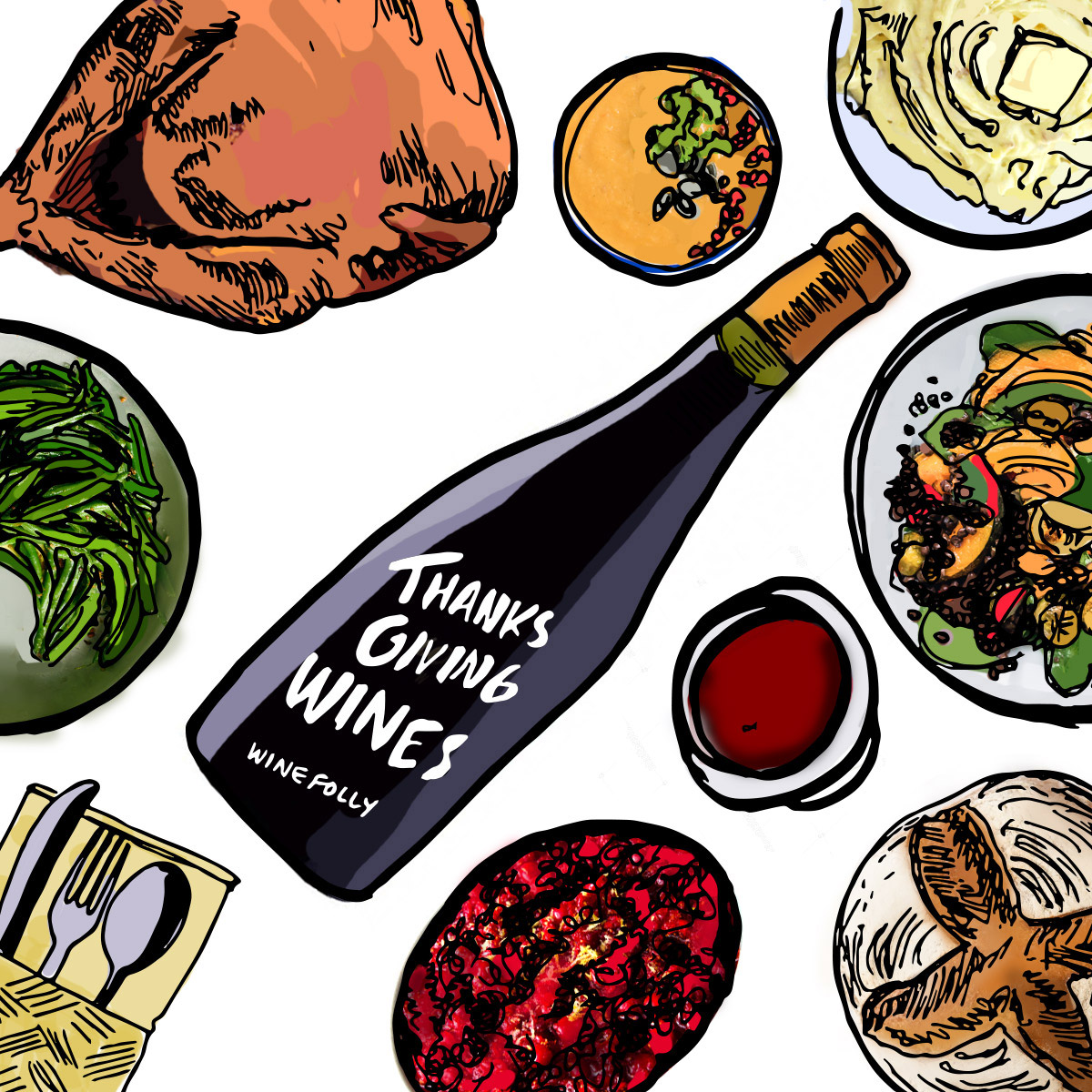 Thanksgiving Wine Picks for 2018 by Wine Folly