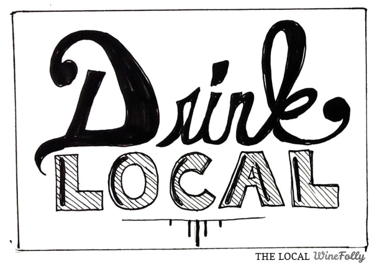 The Drink Local Illustration