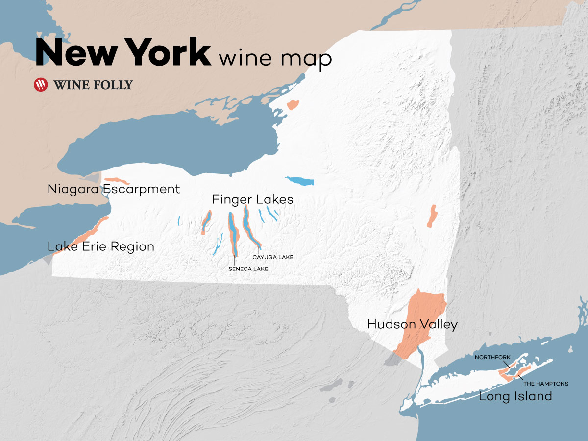 Map Of New York Finger Lakes Region.Inside New York Wine Country Wine Folly