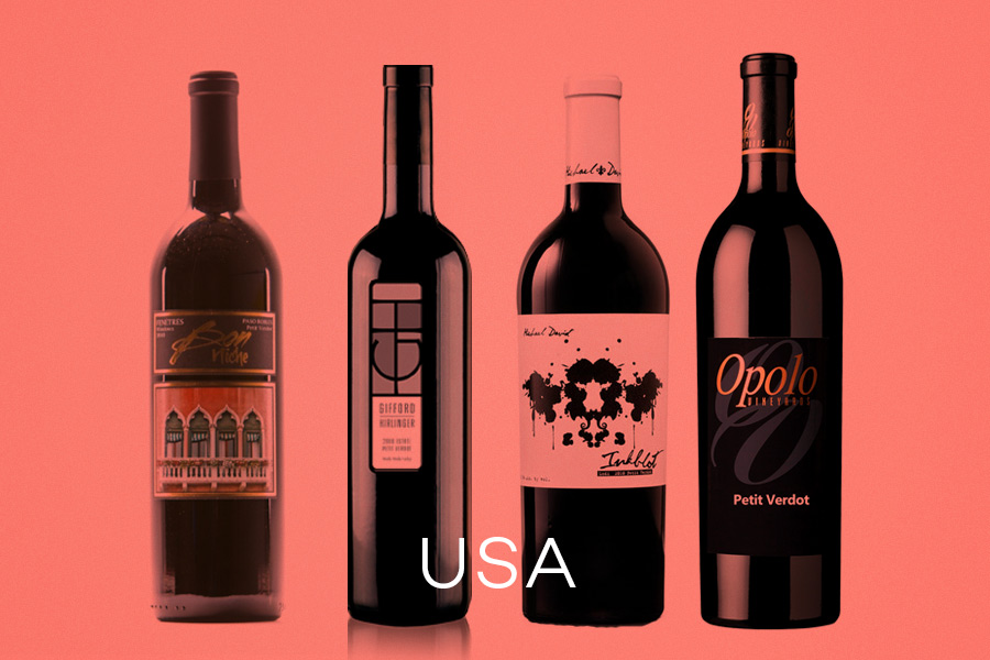 Examples of California and Washington Petit Verdot Wines