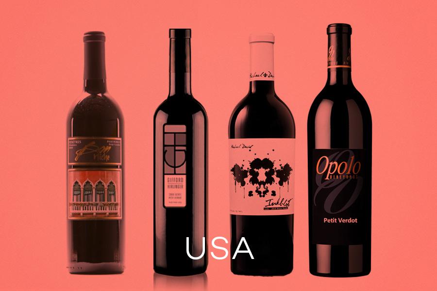 Examples of California and Washington Petit Verdot Wines