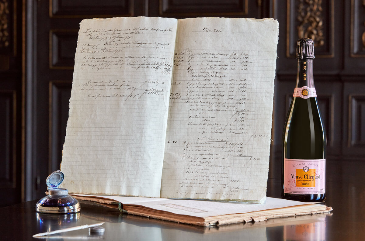 Veuve-Clicquot-first-recorded-rose-Champagne-1818
