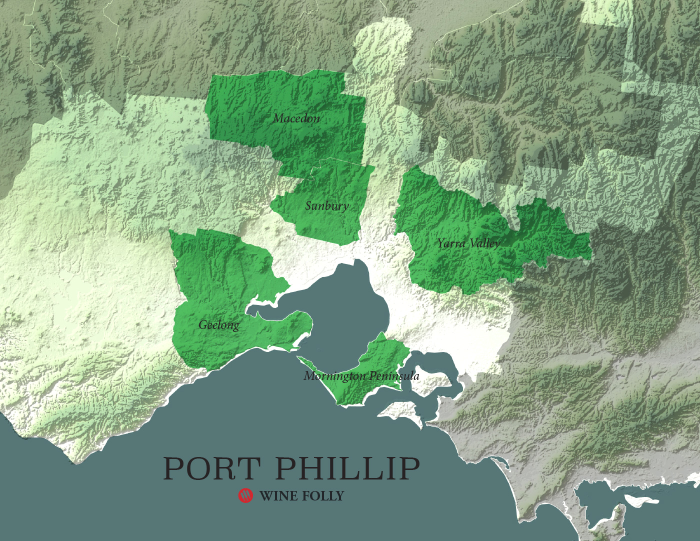 Victoria Australia Wine Map Port Phillip Wine Folly