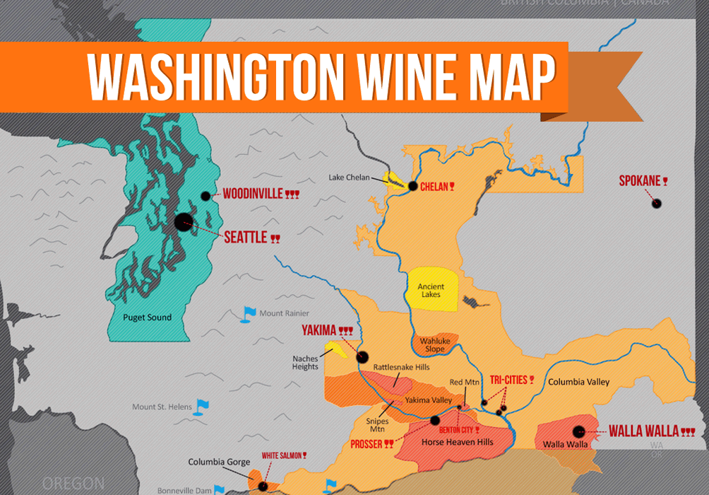 Image result for map of washington state wine regions
