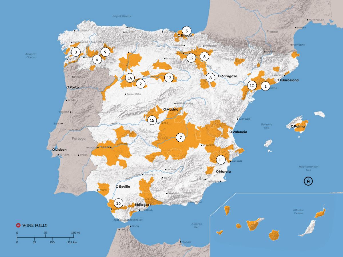 Spain Map Of Wine Regions.Spanish Wine Exploration Map Wine Folly