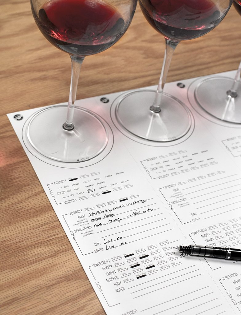 Wine Tasting Placemats