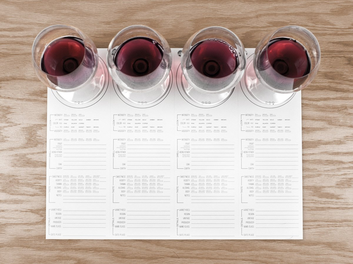 Wine tasting placemat set by Wine Folly.
