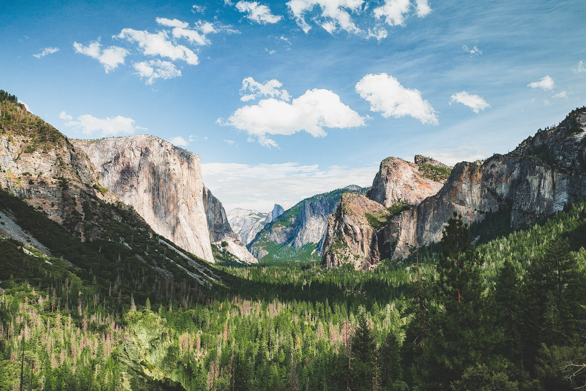 The mountains of Yosemite National Park.