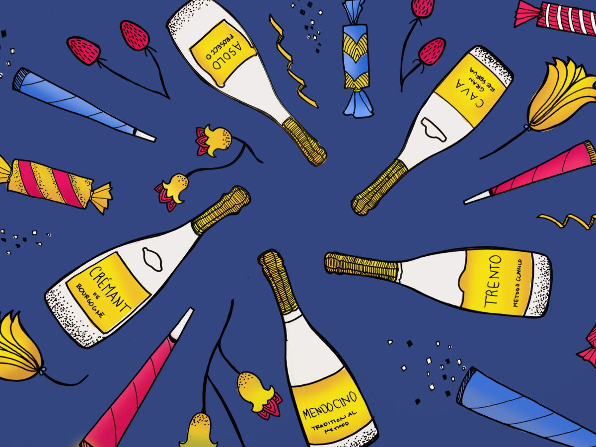 Alternative to Champagne sparkling wines