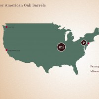 American Oak Wine Barrel Forest Map