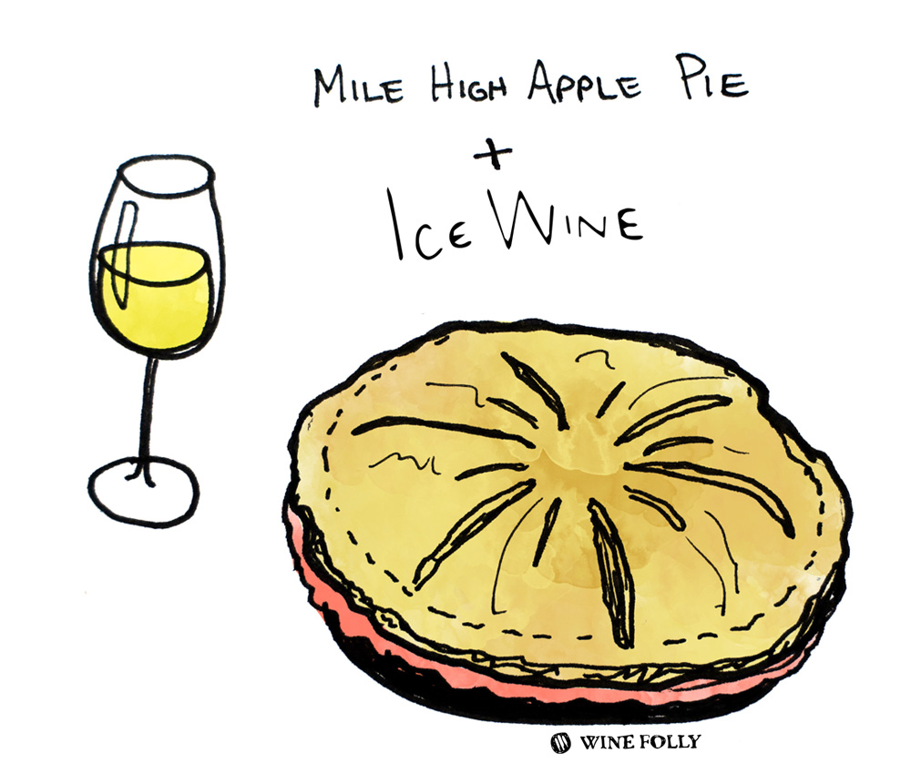 Apple Pie and Ice Wine Pairing illustration by Wine Folly