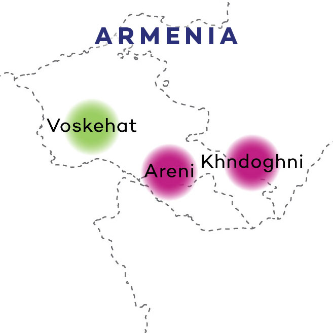 Armenian Wines on Map by Wine Folly