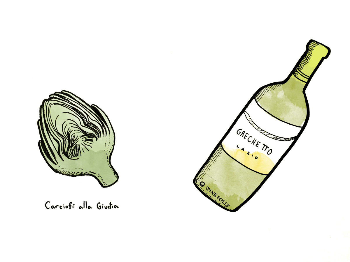 artichoke-wine-pairing-grechetto-illustration