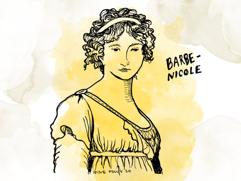 Artist rendition of Barbe-Nicole Clicquot-Ponsardin by Madeline Puckette