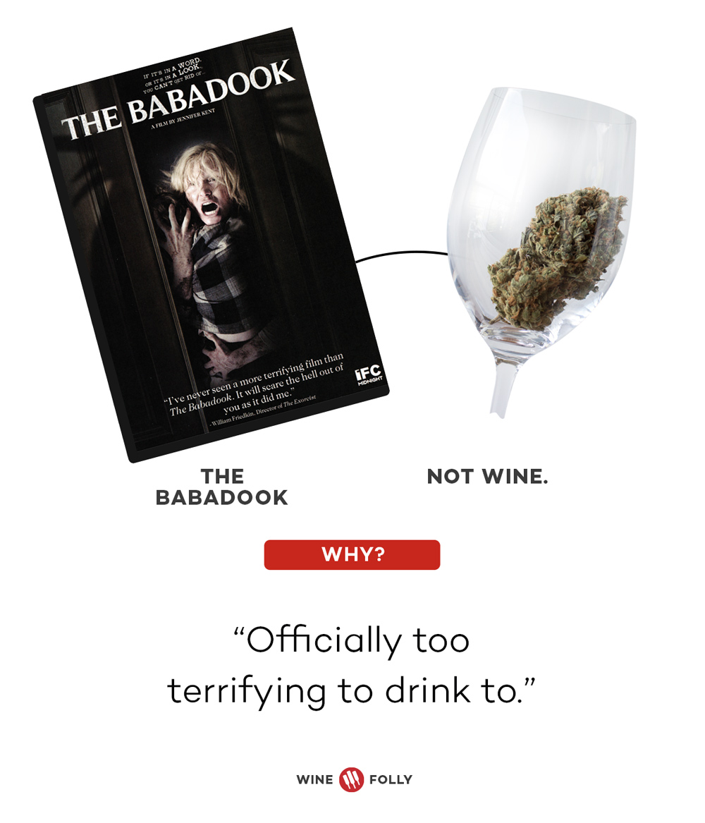 The Babadook and Cannabis Horror Movie Wine Pairings by Wine Folly