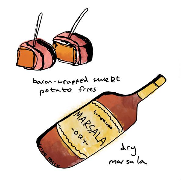 bacon-wrapped-sweet-potatos-and-marsala-wine