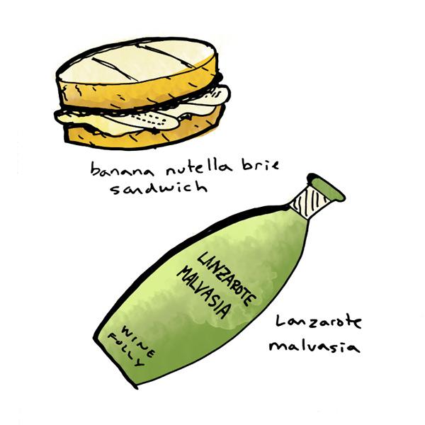banana-nutella-sandwich-and-malvasia-wine-pairing