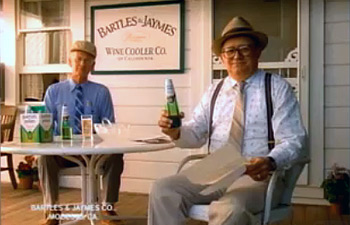 bartles & jaymes 1980s wine cooler ad