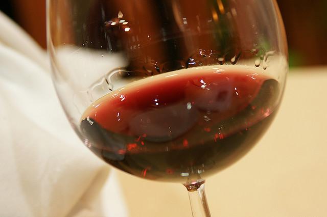 beaujolais nouveau in a glass