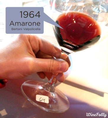 Bertani Amarone Wine from 1964
