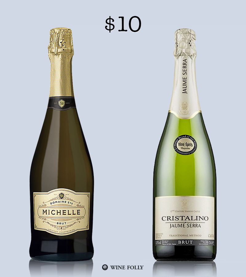 Best Sparkling Wine Brands Under $10 by Wine Folly