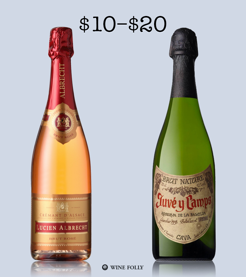 Best Sparkling wine Under $20 by Wine Folly