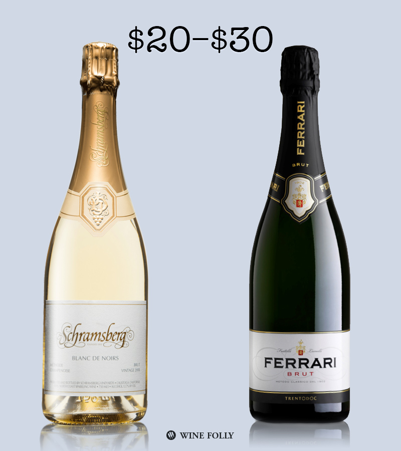 Best Sparkling Wine Brands under 30 by Wine Folly