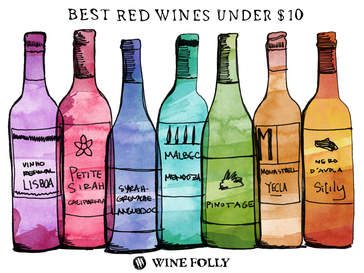 Best Red Wines Under $10 (2015 Edition) | Wine Folly