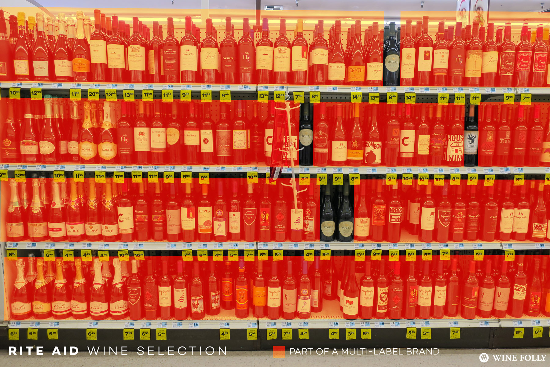 Big Brand Wines at Rite Aid in Seattle, WA. Photo by Wine Folly.