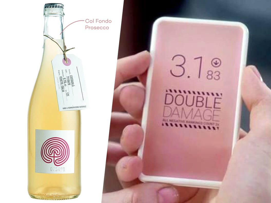 Pairing wine with binge tv Black Mirror and Col Fondo Prosecco Natural Wine