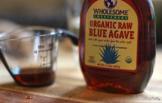 we used 3/4 ounce of raw blue agave