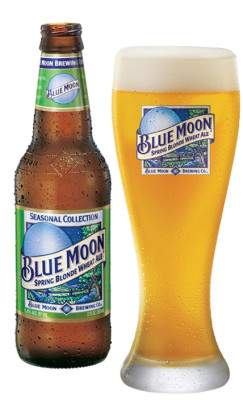 Blue Moon Wheat Ale Beer Glass