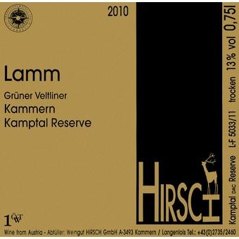 """""""Lamm"""" Hirsch Grüner Veltliner 2010"""